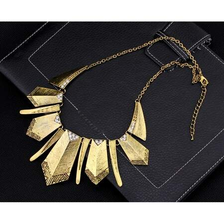 Colar Casual Necklace Zircônia Gold