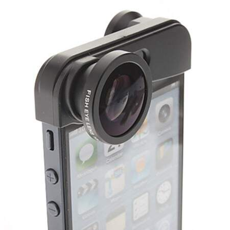 Lente Fish Eye 2 in 1 iPhone 5/5s Black