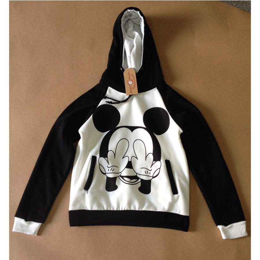 Moletom Casual Mickey Mouse Black/White