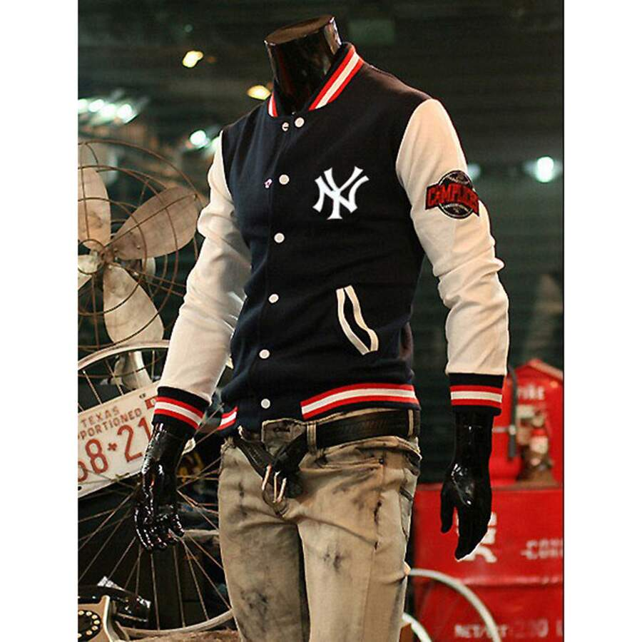Jaqueta MLB College Varsity New York Yankees Company Black