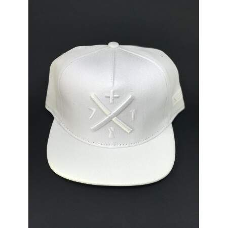 Boné +71 Clothing Snapback Logo All White