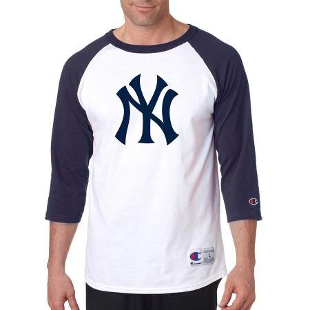 Camisa 3/4 MLB New York Yankees White