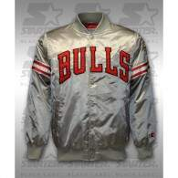 Jaqueta Starter Black Label NBA Chicago Bulls Cinza