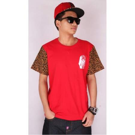 Camiseta Last Kings Leopard Red