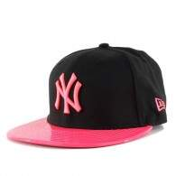 Boné New Era 9FIFTY Strapback New York Yankees Black/Pink