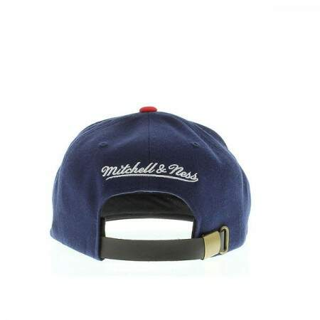 Boné Mitchell and Ness Strapback Brooklyn Nets Blue/Red