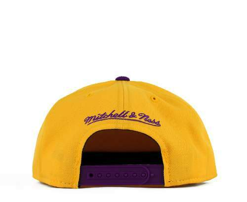Boné Mitchell and Ness Snapback Los Angeles Lakers Purple/Yellow