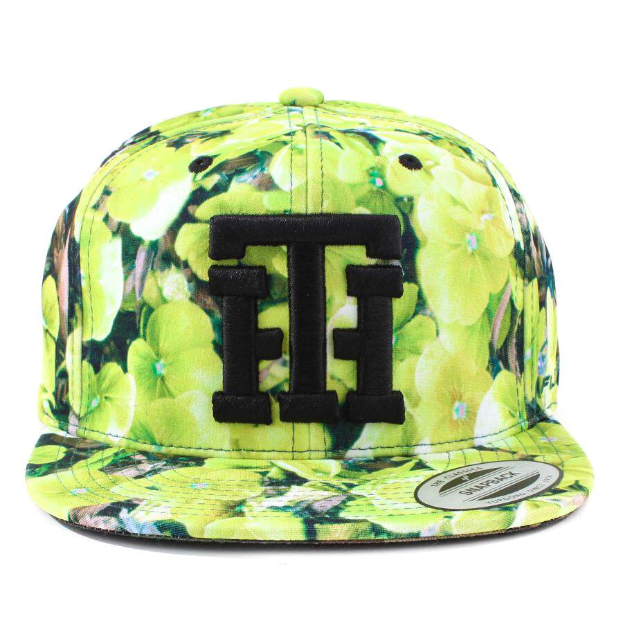 Boné True Heart Snapback TH Script Floral Green