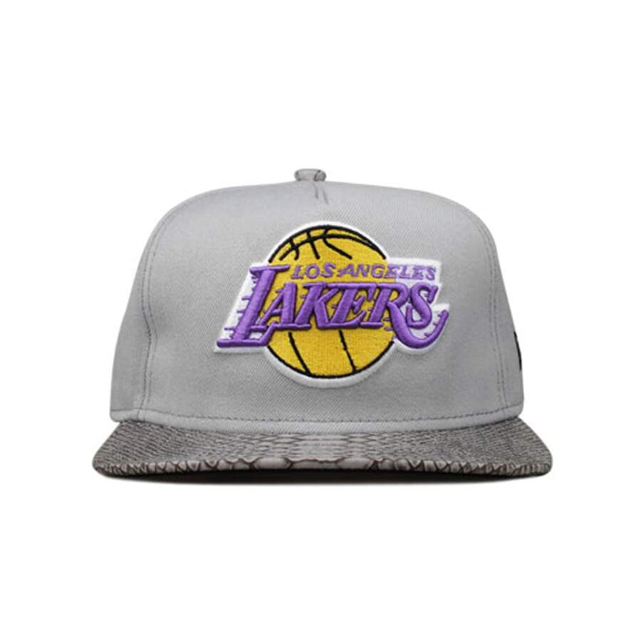 Boné New Era 9FIFTY Strapback SnakeSkin Los Angeles Lakers Gray