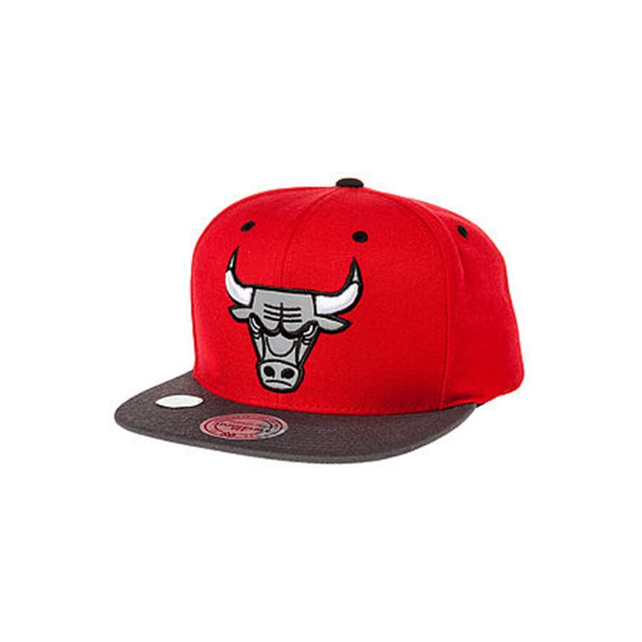 Boné Mitchell and Ness Snapback Chicago Bulls Gray/Red