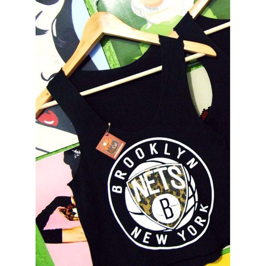 Regata The Cat Brooklyn Nets Black