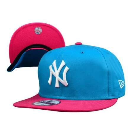 Boné New Era 9FIFTY Snapback New York Yankees Blue/Pink