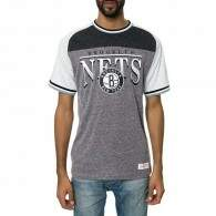 Camiseta Mitchell and Ness Brooklyn Nets Gray/White