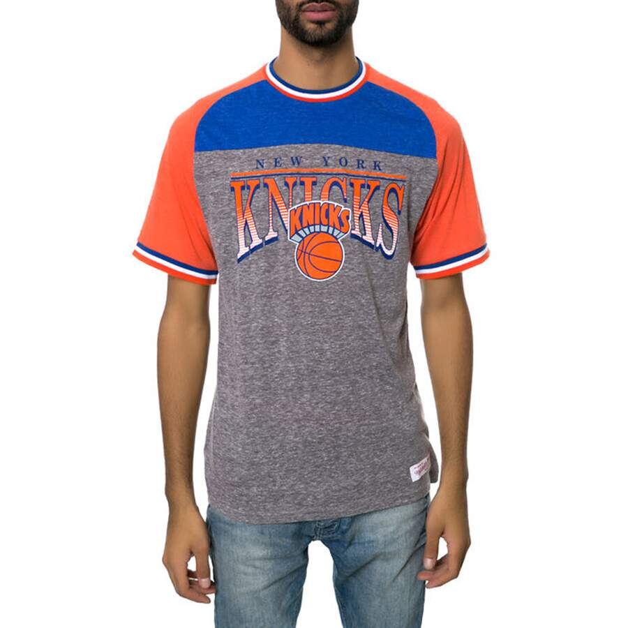 Camiseta Mitchell and Ness New York Knicks Gray/Orange