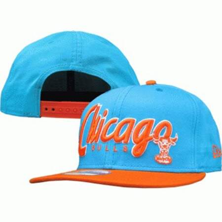 Boné New Era 9FIFTY Snapback Chicago Bulls Light Blue/Orange