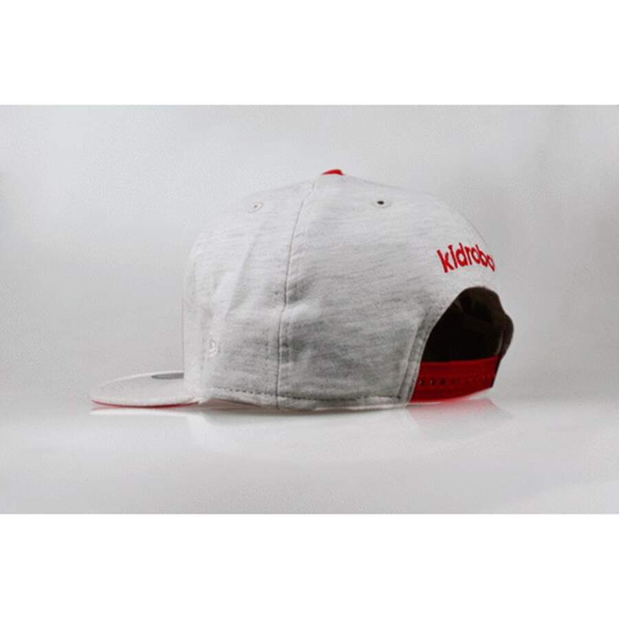 Boné New Era 9FIFTY Snapback Kid Robot Script White/Red