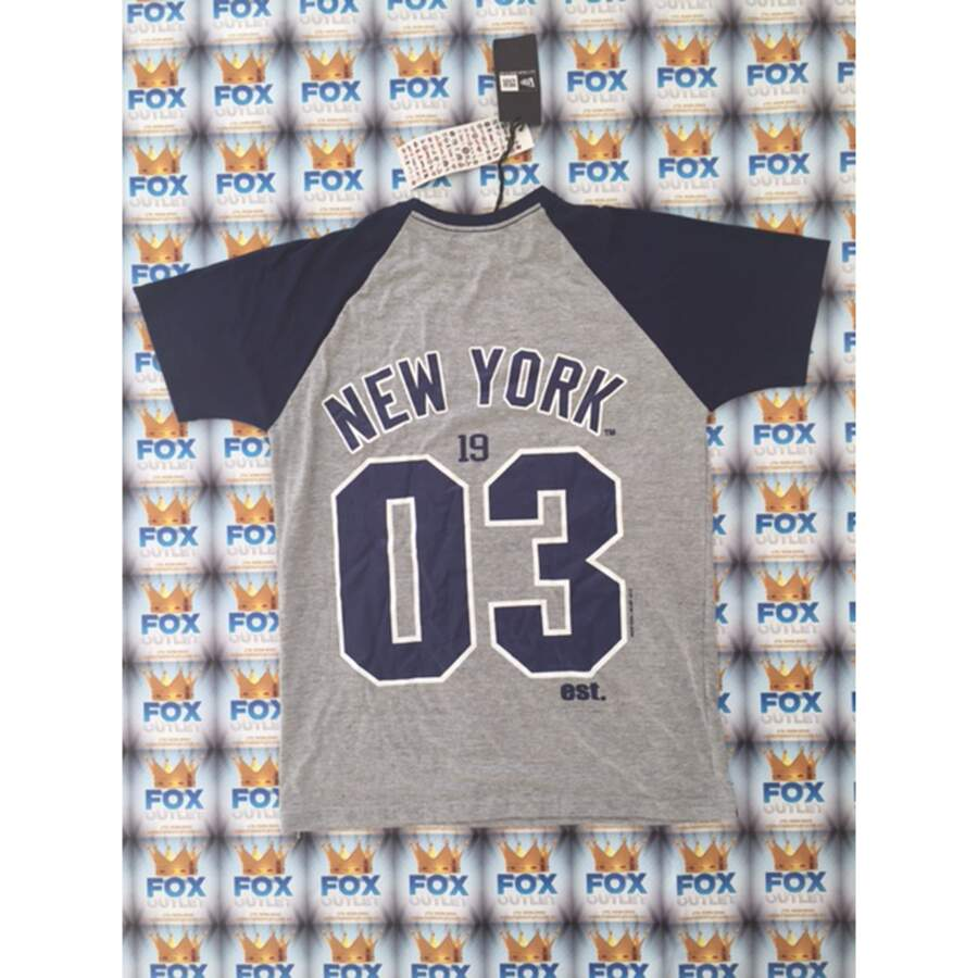 Camiseta New Era New York Yankees Gray/Navy/White