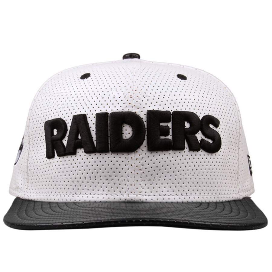 Boné New Era 9FIFTY Snapback Oakland Raiders White/Black
