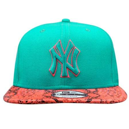 Boné New Era 9FIFTY Strapback New York Yankees Verde/Rosa