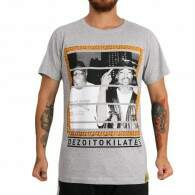 Camiseta 18Kilates 2pac x Notorius Big Cinza