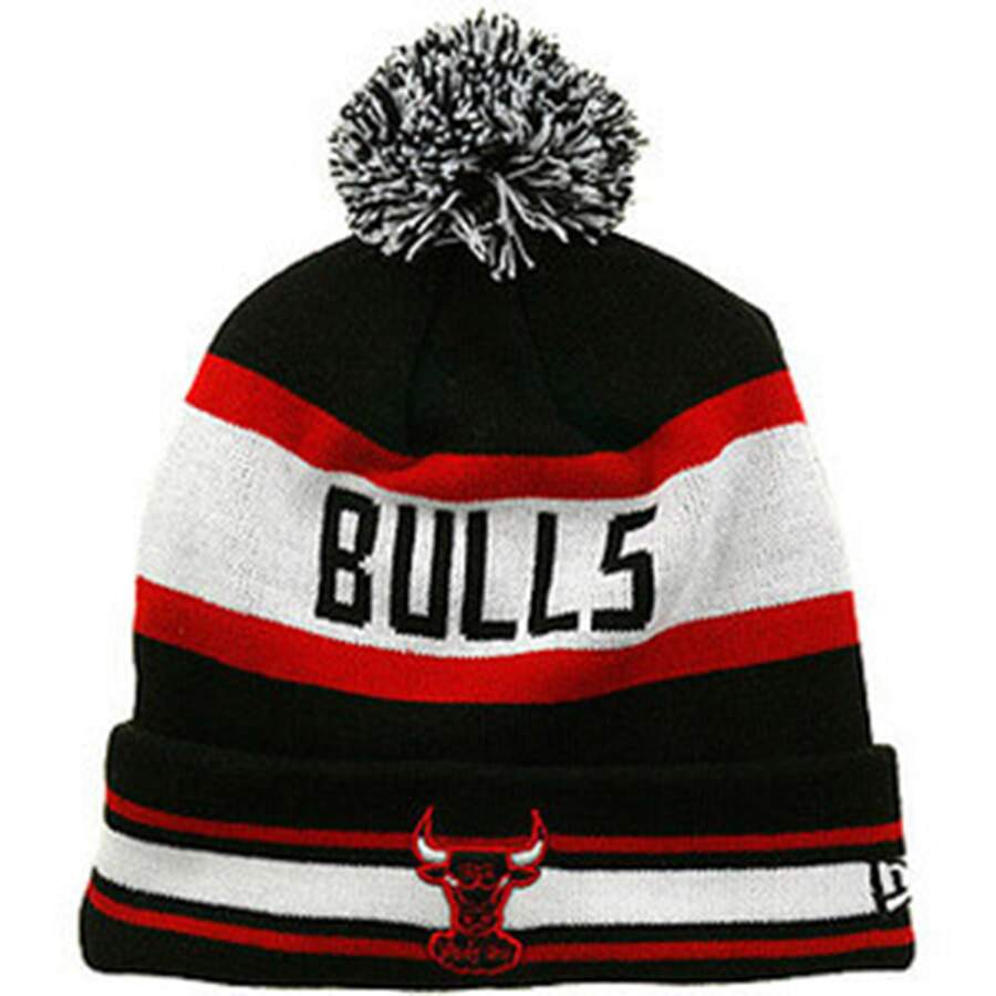 Touca New Era Chicago Bulls Black/White