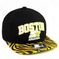 Boné Starter Black Label Strapback City Series Boston Preto/Amarelo