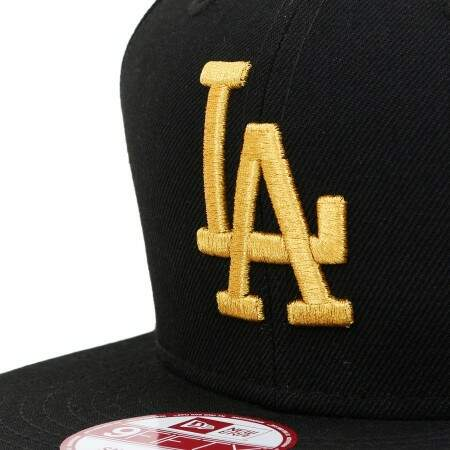 12514be40bad1 Boné New Era 9FIFTY Snapback Los Angeles Dodgers Preto Dourado