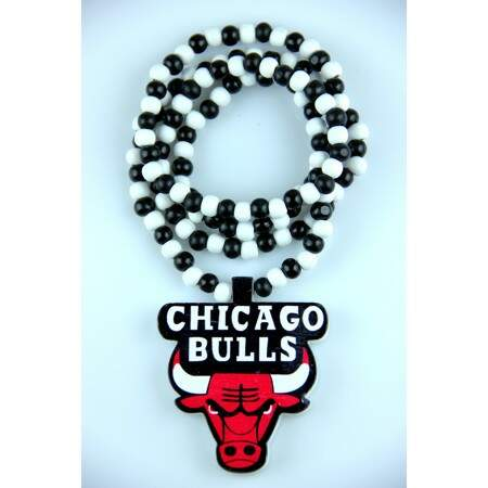 Colar GoodWood Necklace Chicago Bulls Black/White