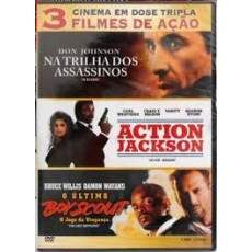 Cinema em Dose Tripla - Na Trilha Dos Assassinos + Action Jackson + Ultimo Boy Scout -  DUPLO