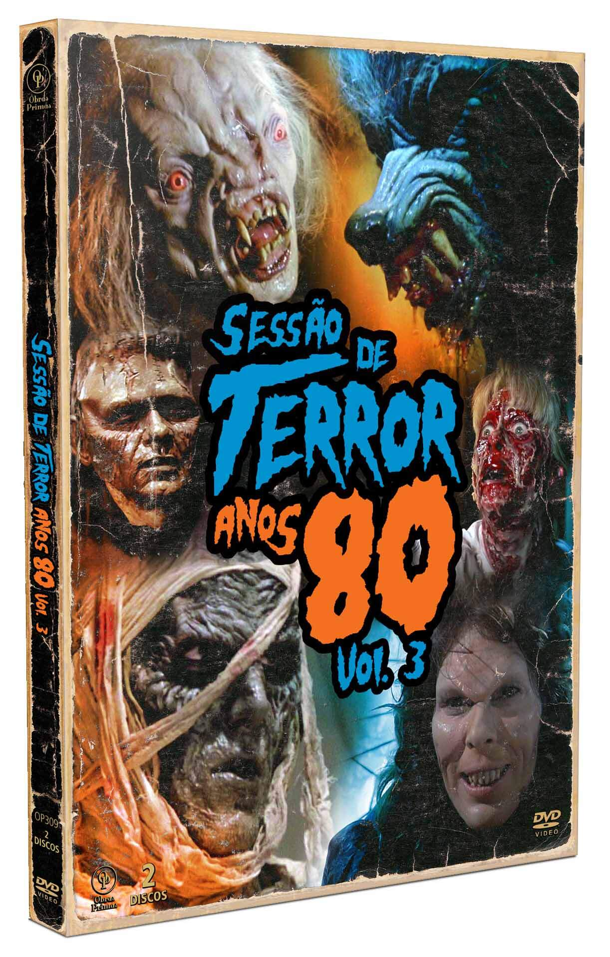 Sessão de Terror Anos 80 Vol. 3 [Digipak  2 DVDs] 4 CARDS   NOVO LACRADO