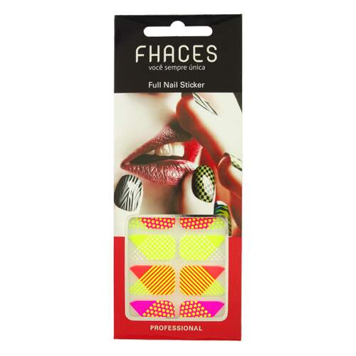 Adesivo Fhaces Full Nail CSW-603 -Formas Neon