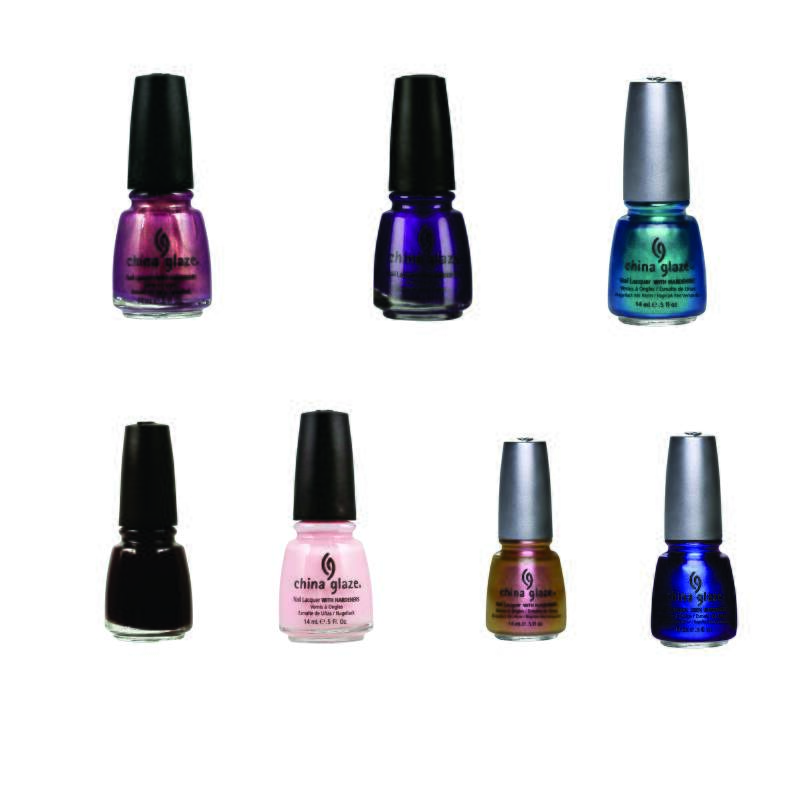 Kit com 7 unidades Esmaltes China Glaze