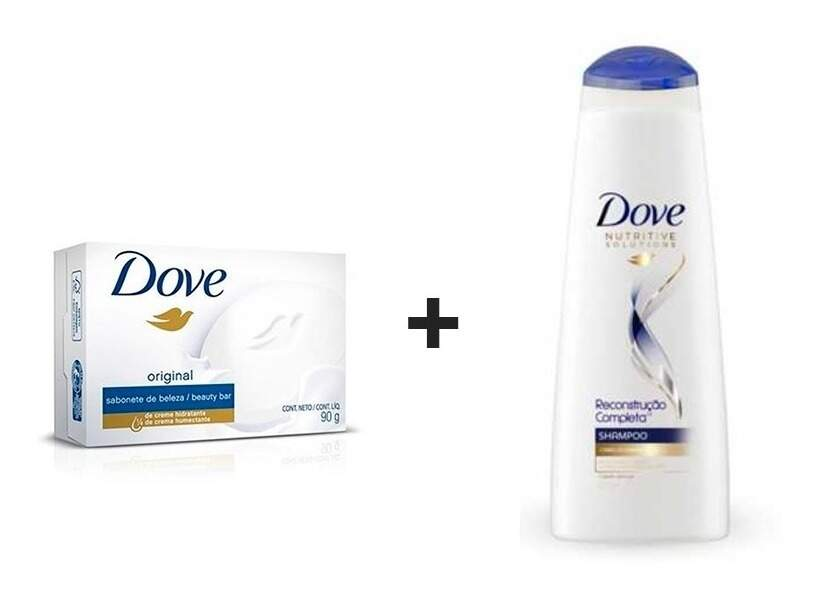Kit Shampoo Dove + Sabonete De Beleza Original Dove