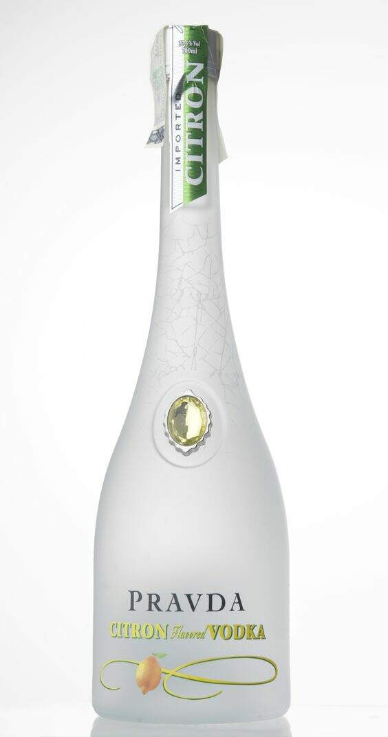 Vodka Pravda Citron Flavored 750ml.