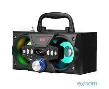 Caixa Bluetooth 10Watts Super Bass com visor SD USB FM mini system - CS-M227BT