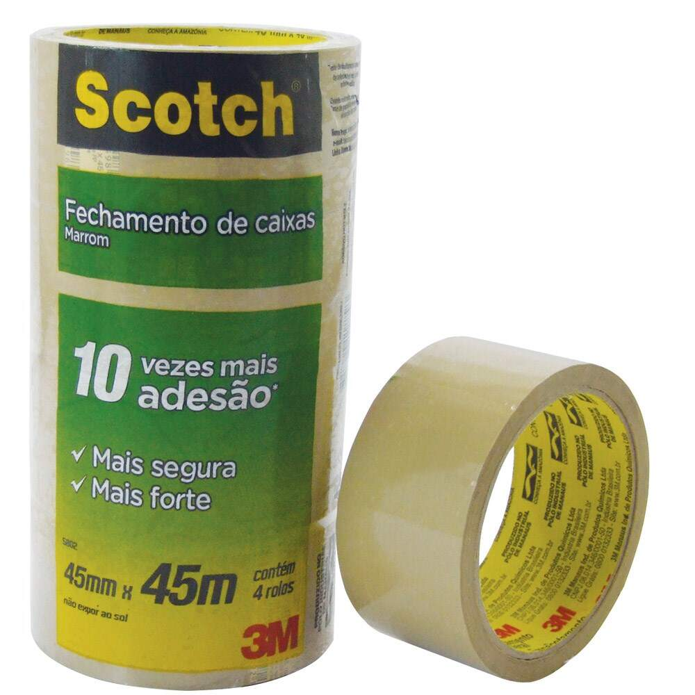 Fita Adesiva Transparente 45mm x 45m Scotch - 3M -  Ref.5802 - 1 Unid
