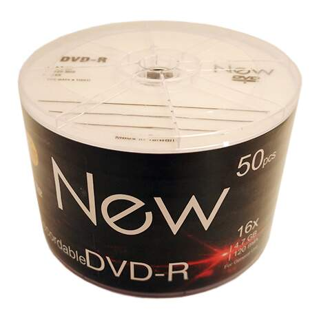 DVD-R New 4.7GB/120min 16x (Bulk c/ 50)