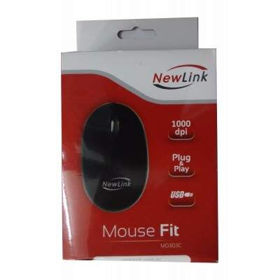 Mouse Fit Easy Preto - New Link MO303C