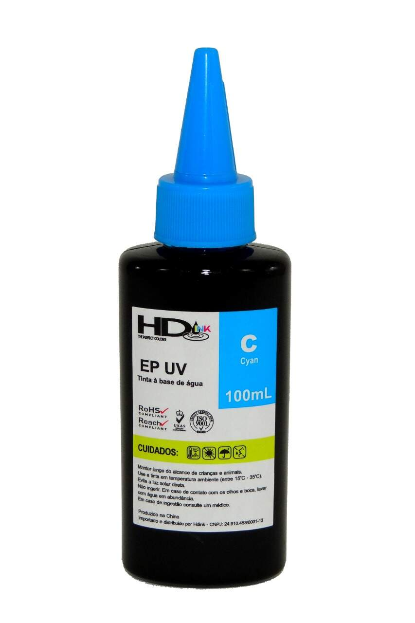 Tinta UV Compatível Epson / Brother - 100ml - Ciano