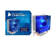 Cooler P/cpu Universal Bluecase Base de Cobre Bcg-03ucb Led Azul