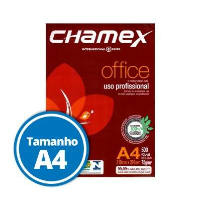Papel Sulfite Chamex Office A4 75g - 500 Folhas