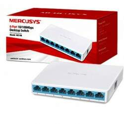 Switch de Mesa de 8 Portas 10/100Mbps Mercusys MS108