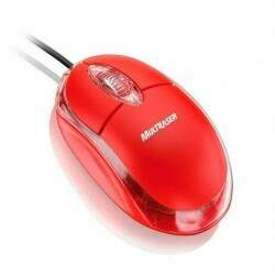 Mouse Multilaser Classic Usb Vermelho - MO003