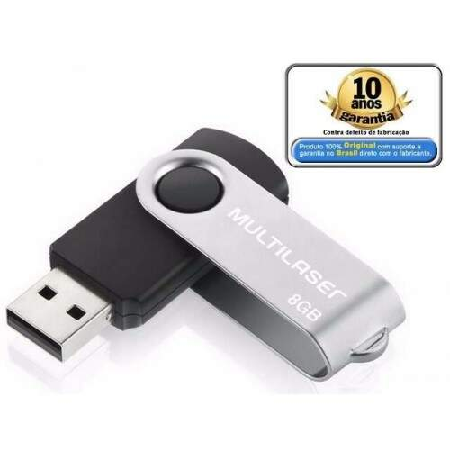 Pen Drive 8GB Multilaser Twist PD587
