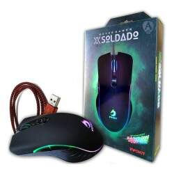 Mouse Gamer com LED RGB rotativo catching - GM-V550