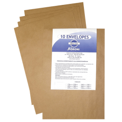 Envelope Saco 80g Kraft Natural 240x340 Foroni  10 un - SKN34