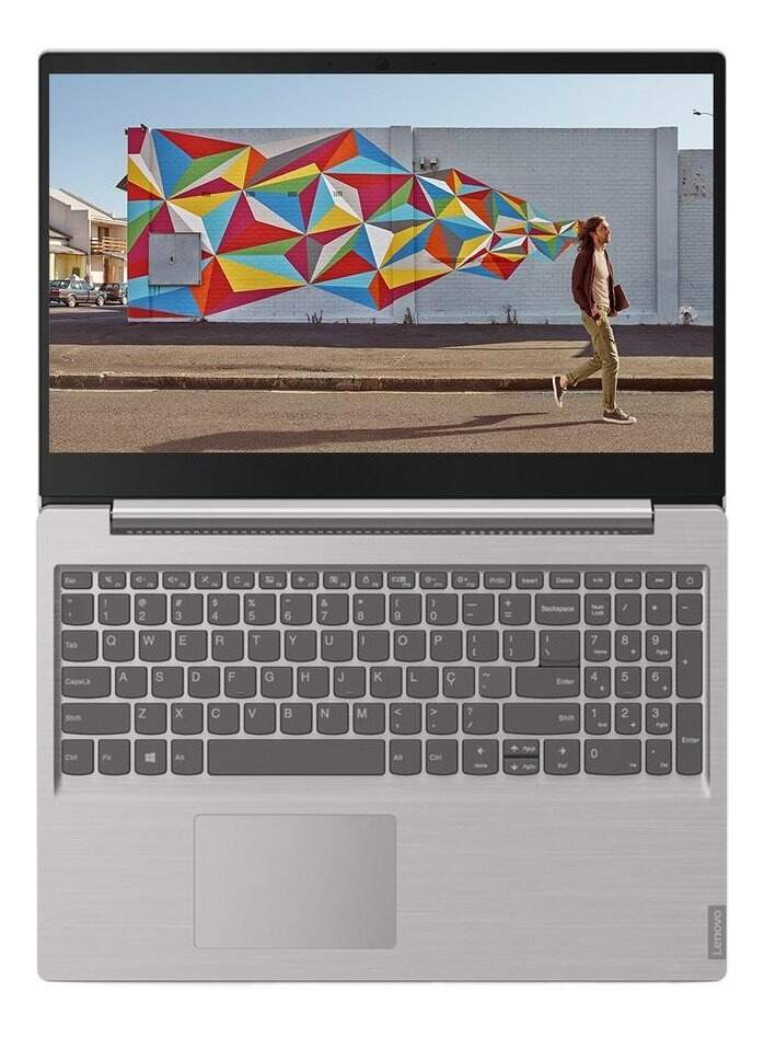Notebook Lenovo S145 Ideapad Ultrafino Intel Core i3-8130U , Tela 15.6, 4GB, 1TB,  Linux Prata