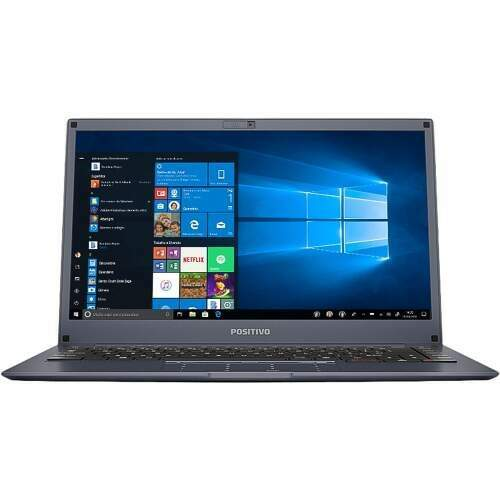 Notebook Positivo Motion 14P Quad 4GB 64GB SSD W10 Cinza