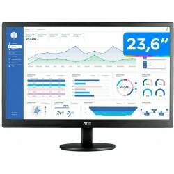 Monitor LED AOC 23,6 Widescreen HDMI / VGA Preto - M2470SWH2