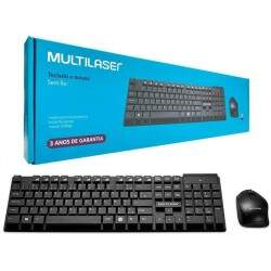 Kit Teclado e Mouse Multimidia Sem Fio Multilaser - TC251